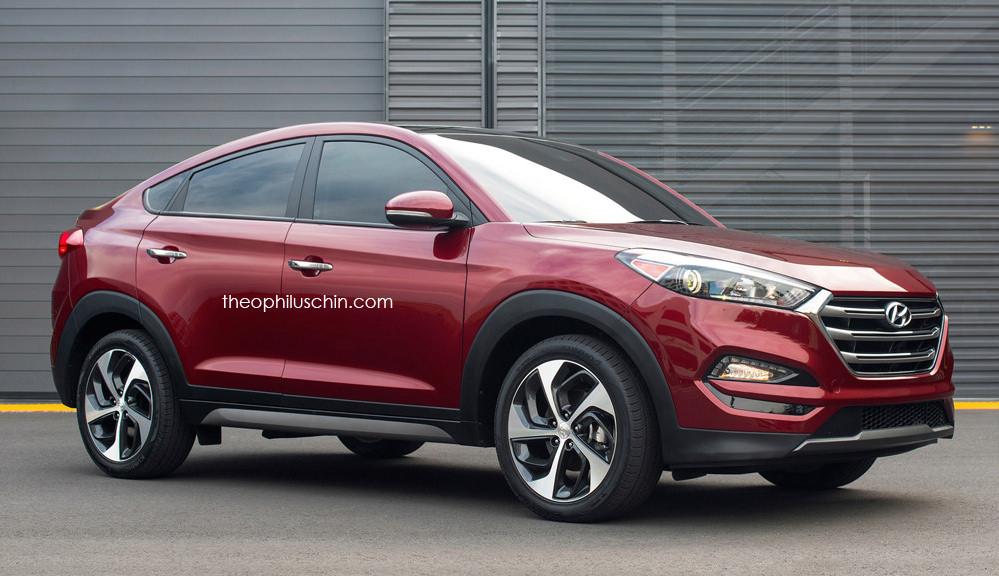 Rendering Hyundai Tucson Coupe