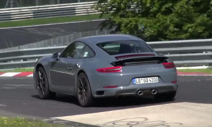 Porsche 991 facelift spotted at nurburgring for Skoda frankfurter ring
