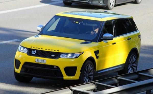 Yellow-Range Rover Sport SVR-0