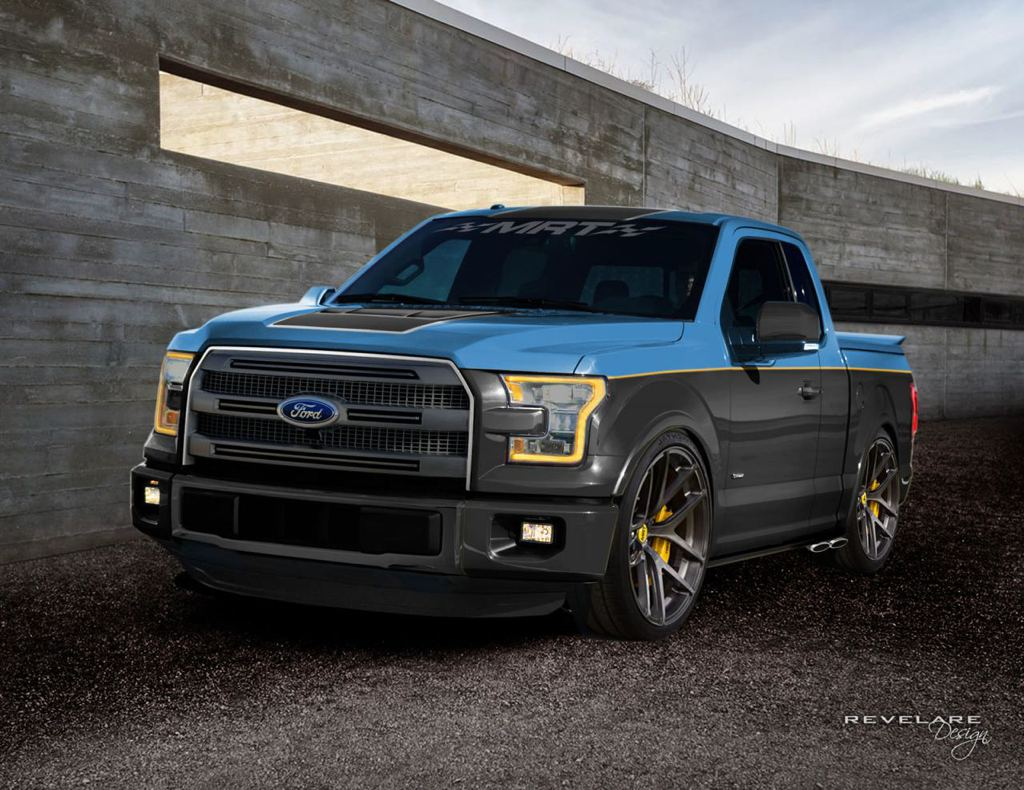 seven custom ford f 150 headed for sema. Black Bedroom Furniture Sets. Home Design Ideas