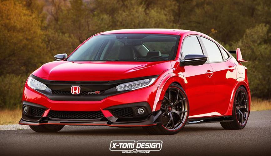 rendering honda civic type r sedan motorward. Black Bedroom Furniture Sets. Home Design Ideas