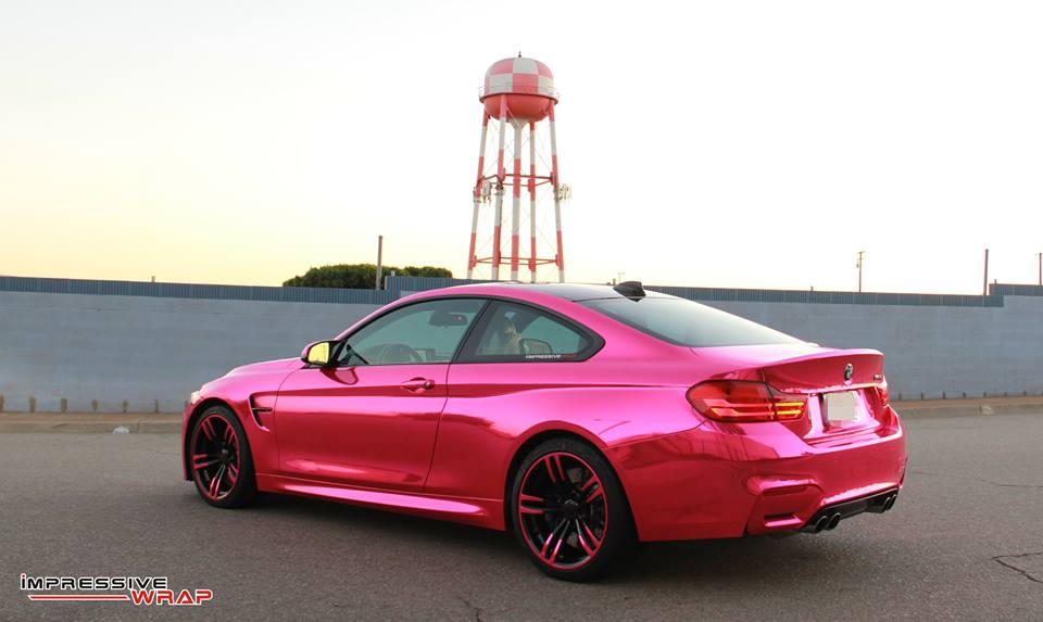 What Do You Think Of This Pink Chrome BMW M4 Motorward