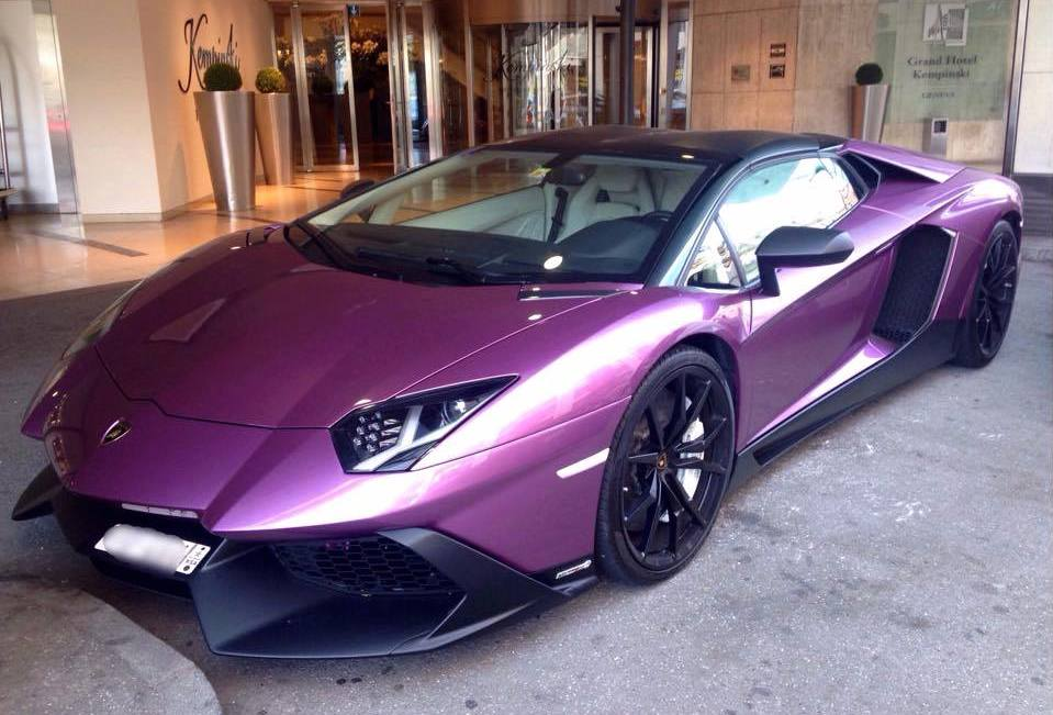 Purple Aventador 50th Anniversary Spotted In Geneva