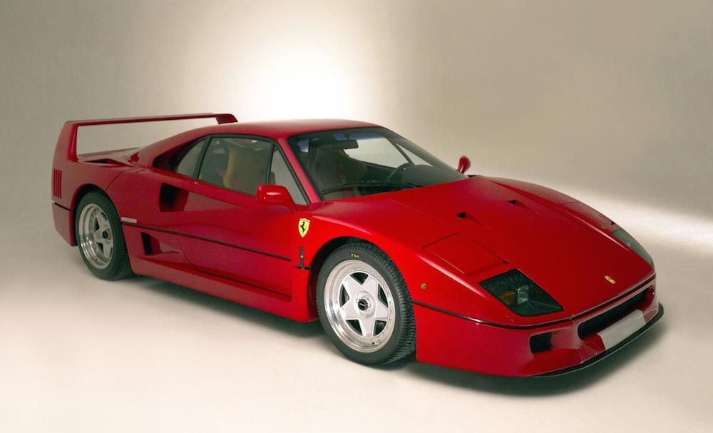 world s only ferrari f40 with leather seats up for grabs. Black Bedroom Furniture Sets. Home Design Ideas