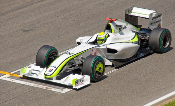 Button Spain 2009 brawn 600x365 at Ross Brawn: The Brains Behind Hamiltons Legend