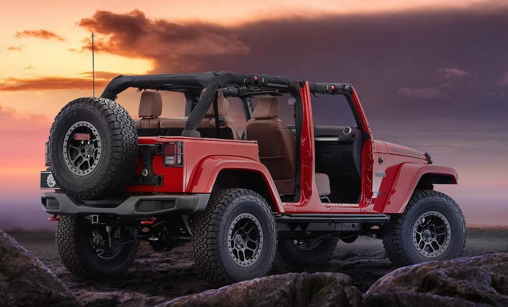 jeep wrangler red rock unveiled at sema. Black Bedroom Furniture Sets. Home Design Ideas