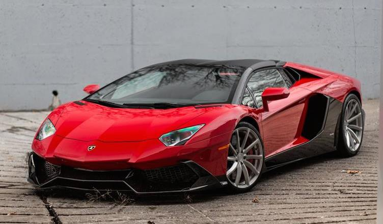 eye candy rosso mars aventador on pur wheels. Black Bedroom Furniture Sets. Home Design Ideas