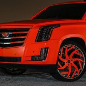 matte orange Cadillac Escalade-1