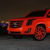 matte orange Cadillac Escalade-2