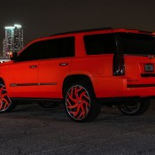 matte orange Cadillac Escalade-3