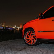 matte orange Cadillac Escalade-4