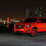 matte orange Cadillac Escalade-5