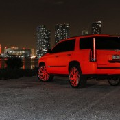 matte orange Cadillac Escalade-6