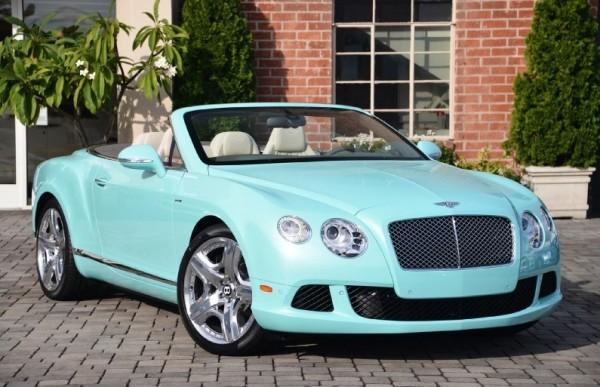 Celeste Blue Bentley Continental GTC-0