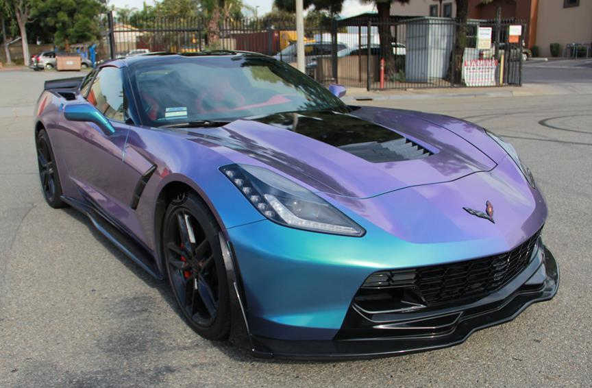 Eye Candy Lavender Turquoise Corvette Stingray