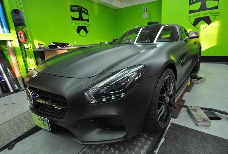 Mercedes Amg Gt Looks Menacing In Matt Black