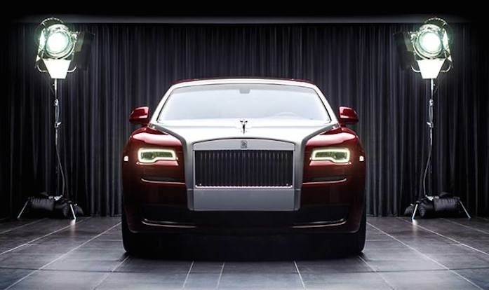 one of one rolls royce ghost red diamond. Black Bedroom Furniture Sets. Home Design Ideas