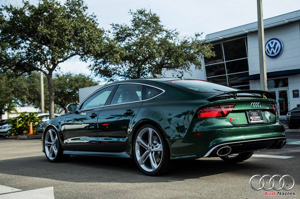 One Off Verdant Green Audi Rs7 Spotted For Sale