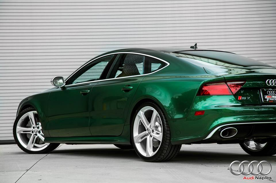 Audi Of Naples >> One-Off Verdant Green Audi RS7 Spotted for Sale