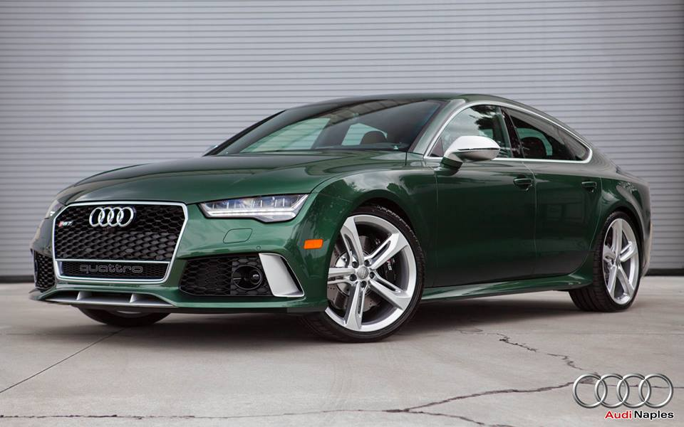 one off verdant green audi rs7 spotted for sale. Black Bedroom Furniture Sets. Home Design Ideas