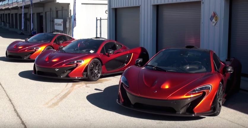 Laguna Seca Raceway >> 3x Volcano Orange McLaren P1 at Laguna Seca