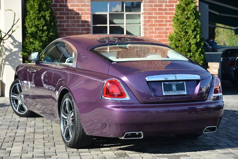 Purple Rolls-Royce Wraith Stuns in Paris - GTspirit  |Covenant Wraith Purple