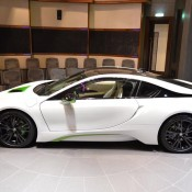 White Java Green BMW i8-2