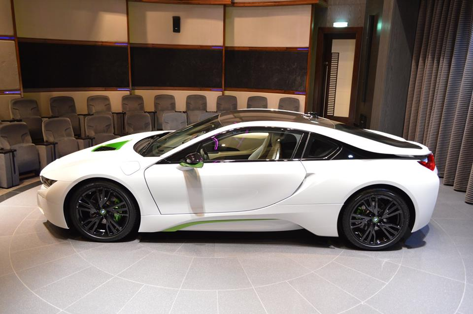 White And Java Green Bmw I8 Looks Dope