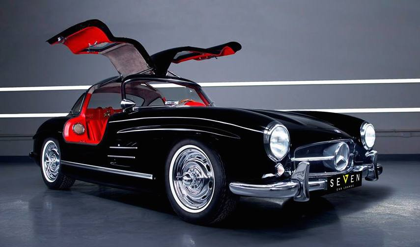 Gallery up close with mercedes 300 sl gullwing for Mercedes benz gullwing 1955