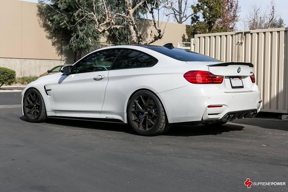 Alpine White BMW M4 Looks Fancy on BBS Wheels