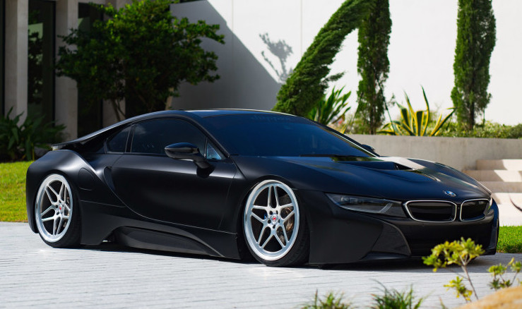 What You Are Looking At Here Is Definitely The Only Bagged BMW I8 In The  World, And Quite Possibly The Only One Fully Wrapped In Matte Black.