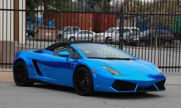 Blue Chrome Gallardo Spyder-0