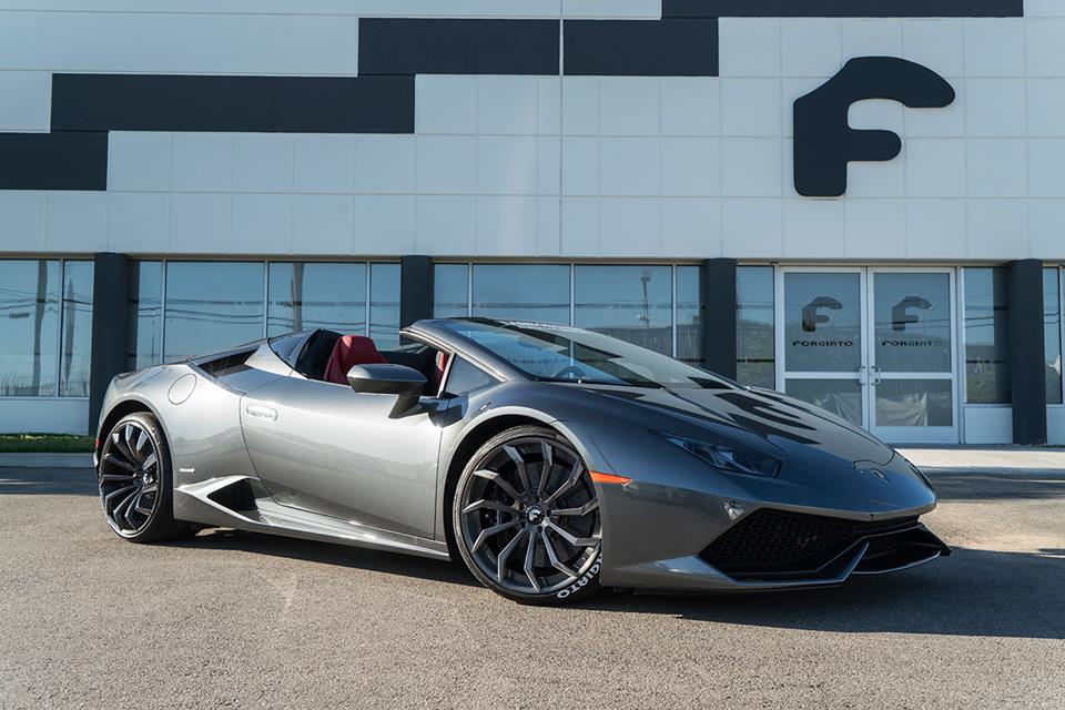 lamborghini huracan spyder by forgiato wheels. Black Bedroom Furniture Sets. Home Design Ideas