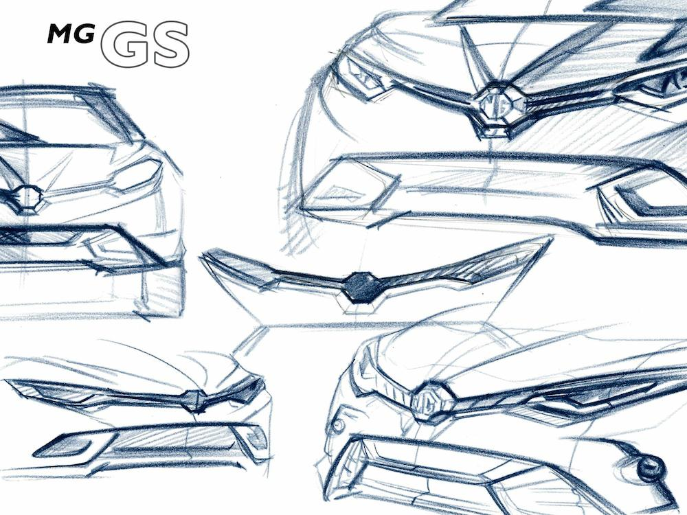 MG GS Crossover at MG GS Crossover Officially Teased