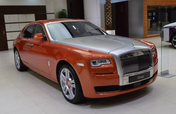 Orange Metallic Rolls-Royce Ghost-0