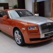 Orange Metallic Rolls-Royce Ghost-1