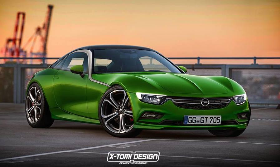 Production Opel GT at Production Opel GT Rendered But It's Not Happening