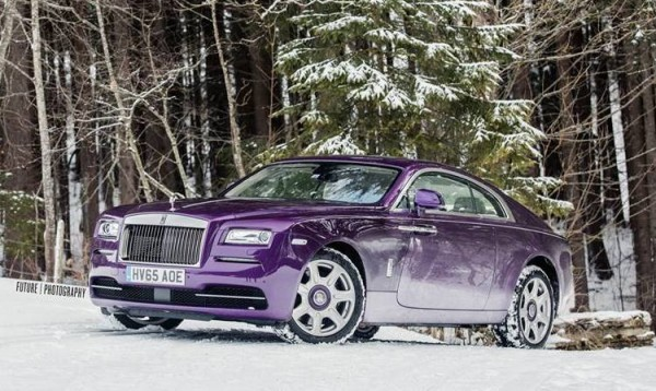 Purple Rolls-Royce Wraith-Alps-0