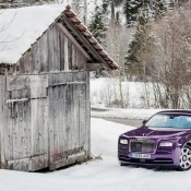 Purple Rolls-Royce Wraith-Alps-12