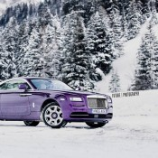 Purple Rolls-Royce Wraith-Alps-9