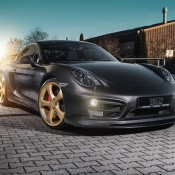 Techart Porsche Cayman-Gold-1