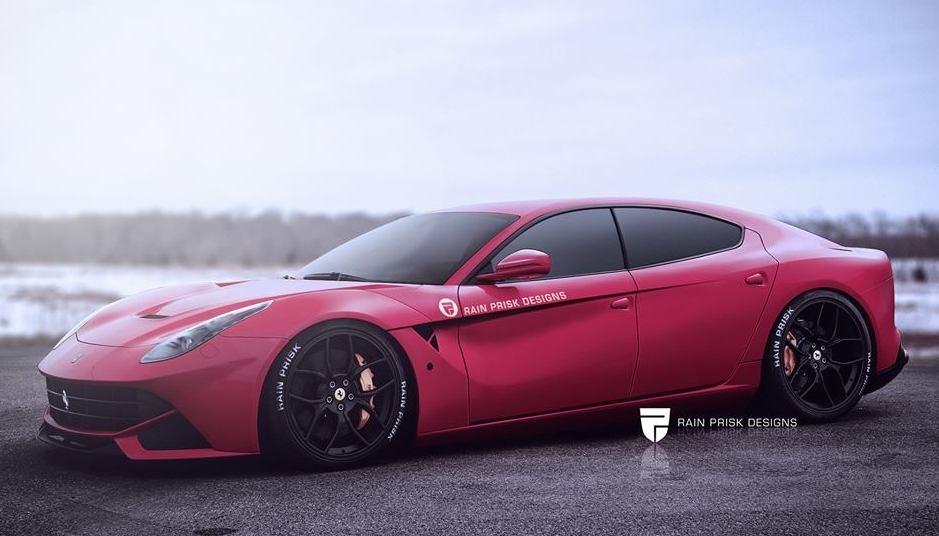 Rendering Four Door Ferrari F12