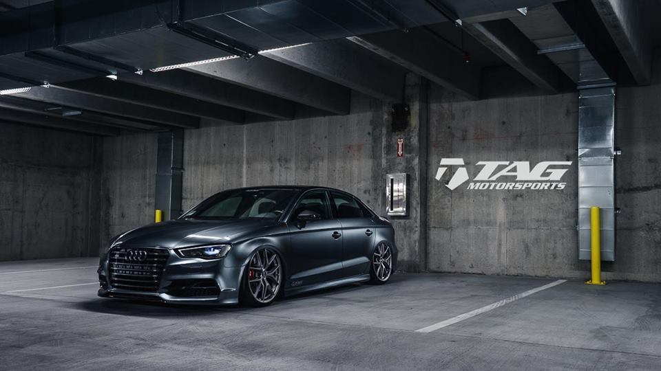 bagged audi s3 by tag motorsports. Black Bedroom Furniture Sets. Home Design Ideas