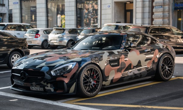 Camo Wrapped Mercedes Amg Gt Spotted In Zurich
