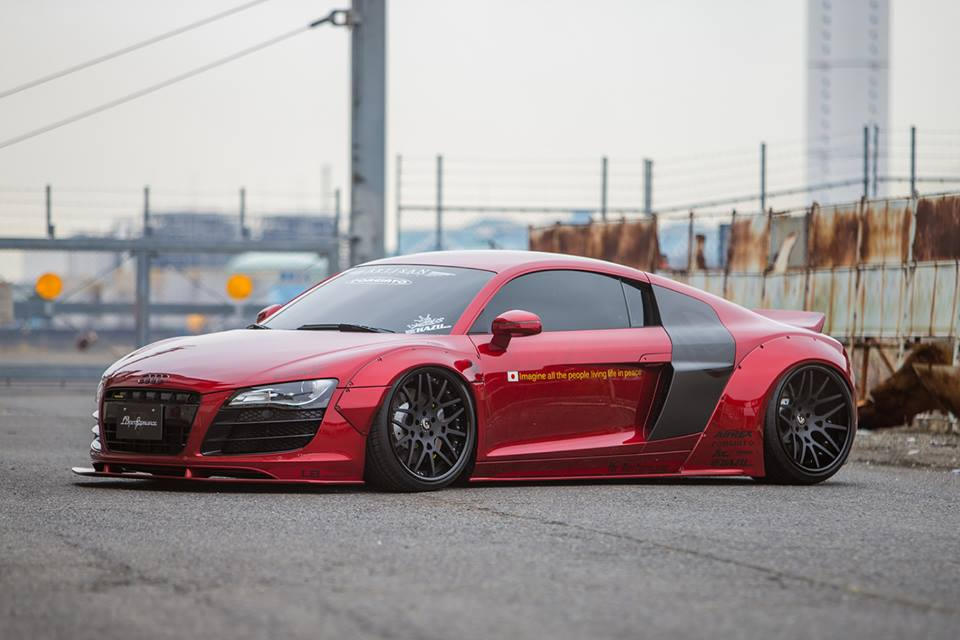 Liberty Walk Audi R8 On Forgiato Wheels