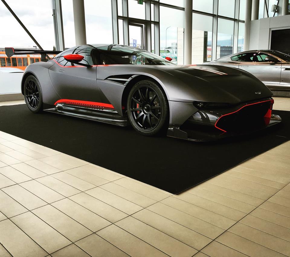 Matte Black Aston Martin Vulcan Looks Meaaan