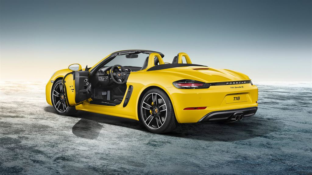 porsche 718 boxster exclusive in racing yellow. Black Bedroom Furniture Sets. Home Design Ideas