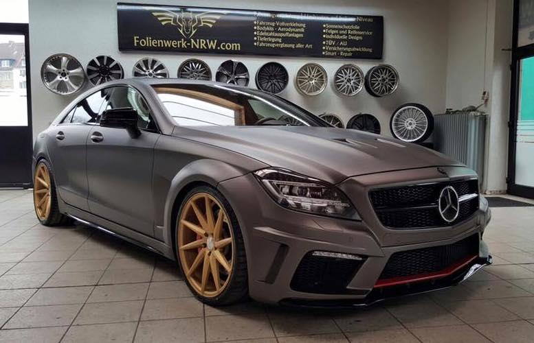 Prior Design Mercedes Cls In Matte Charcoal