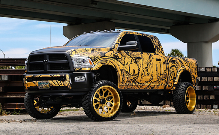 Spades Kreations Dodge Ram Mega Cab Is A Monster