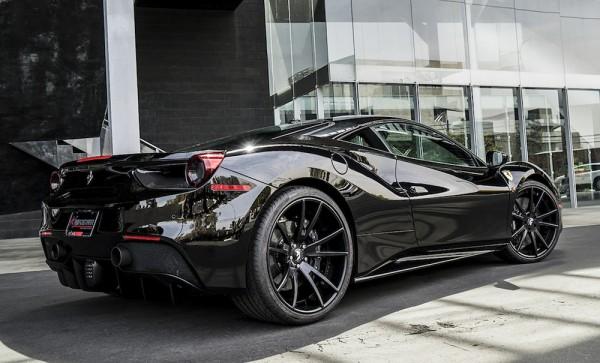 black on black ferrari 488 by forgiato - Ferrari 488 Gtb Black